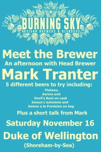 Burning Sky meet the brewer web poster